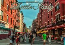 L'ingresso di Little Italy a Manhattan, il quartiere per eccellenza degli immigrati italiani